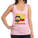Colombian soccer Womens Racerback Tanktop