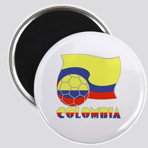 Colombian Soccer Ball and Flag Magnet
