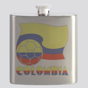 Colombian Soccer Ball and Flag Flask