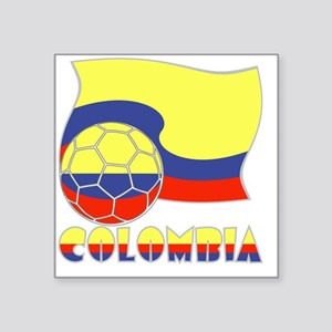 "Colombian Soccer Ball and F Square Sticker 3"" x 3"""