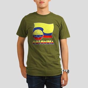 Colombian Soccer Ball Organic Men's T-Shirt (dark)