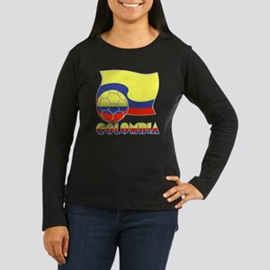 Colombian Soccer  Women's Long Sleeve Dark T-Shirt