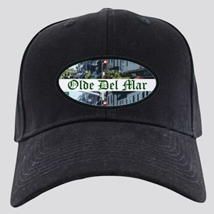 Olde Del Mar Village Baseball Black Cap