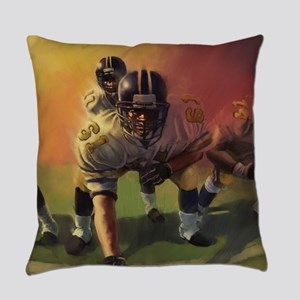 Football Players Painting Everyday Pillow