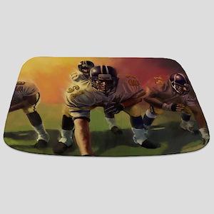 Football Players Painting Bathmat