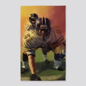 Football Players Painting Area Rug