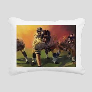 Football Players Painting Rectangular Canvas Pillo