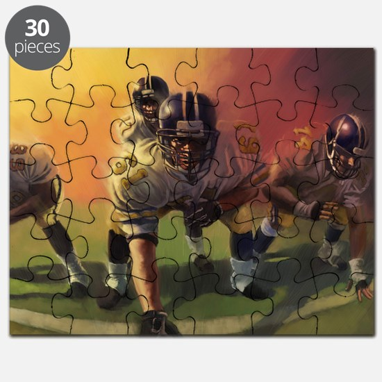 Football Players Painting Puzzle