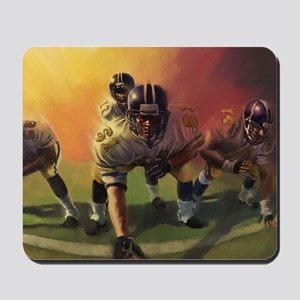 Football Players Painting Mousepad