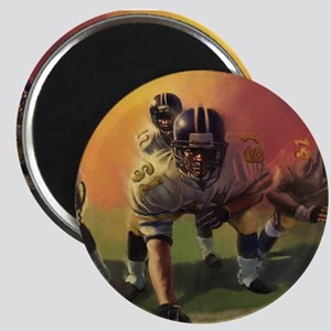 Football Players Painting Magnets