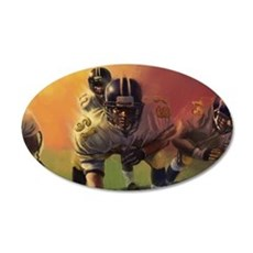 Football Players Painting Wall Decal