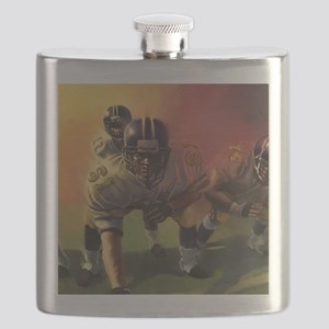 Football Players Painting Flask