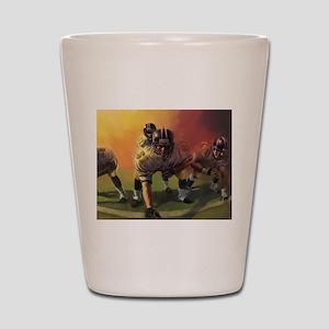 Football Players Painting Shot Glass