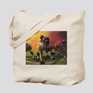 Football Players Painting Tote Bag