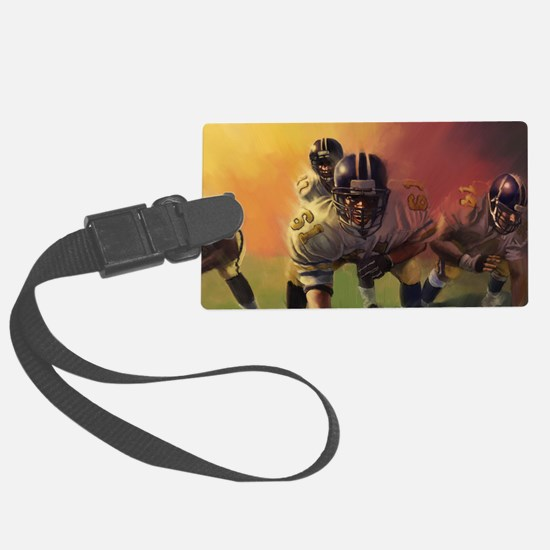 Football Players Painting Luggage Tag