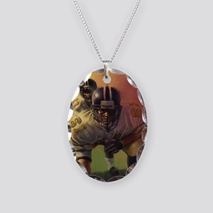 Football Players Painting Necklace