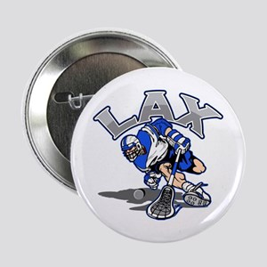 """Lacrosse Player In Blue 2.25"""" Button"""