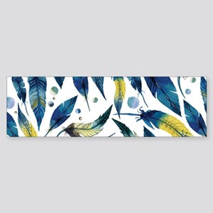 Feathers Blue Bumper Sticker
