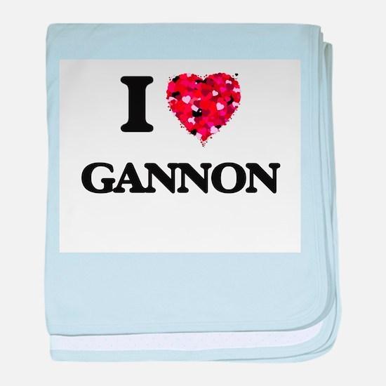 I Love Gannon baby blanket