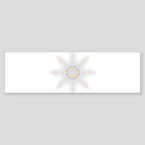 Triangle Mandala Bumper Sticker