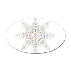 Triangle Mandala Wall Decal