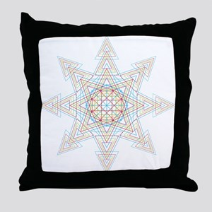Triangle Mandala Throw Pillow