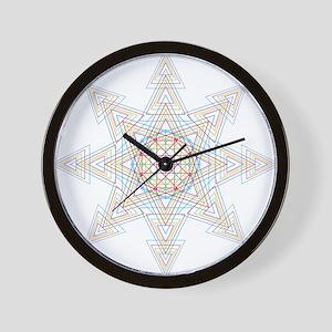 Triangle Mandala Wall Clock