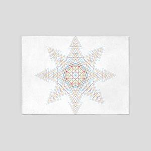 Triangle Mandala 5'x7'Area Rug