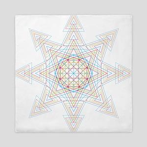 Triangle Mandala Queen Duvet