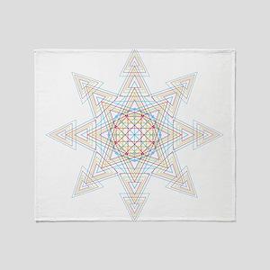 Triangle Mandala Throw Blanket