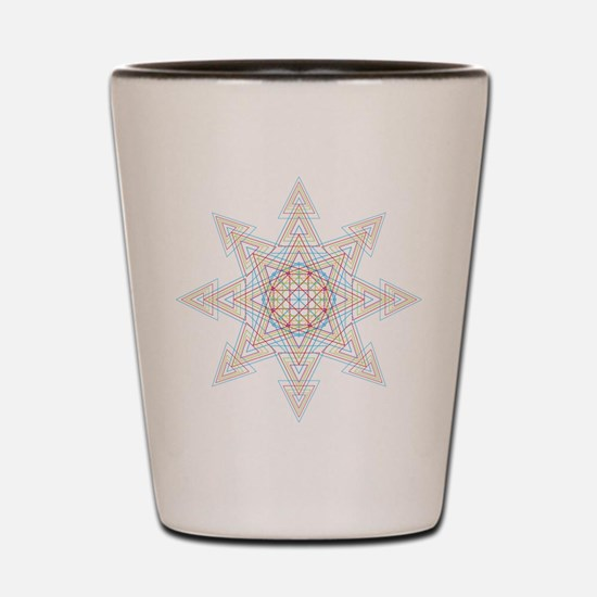 Triangle Mandala Shot Glass