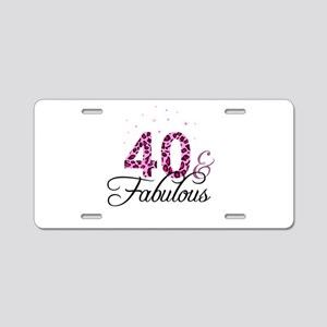 40 and Fabulous Aluminum License Plate
