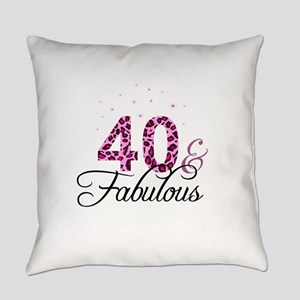 40 and Fabulous Everyday Pillow