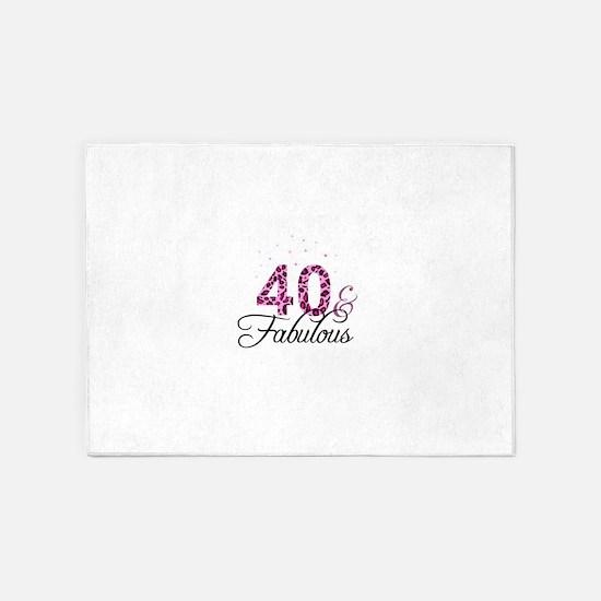 40 and Fabulous 5'x7'Area Rug