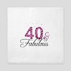 40 and Fabulous Queen Duvet