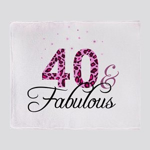 40 and Fabulous Throw Blanket