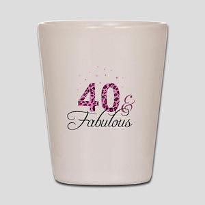40 and Fabulous Shot Glass