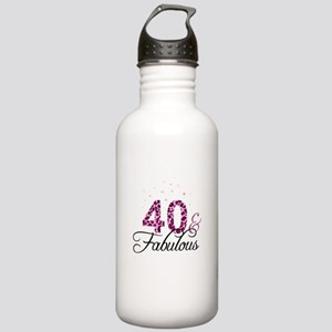 40 and Fabulous Sports Water Bottle