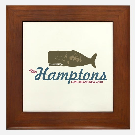 The Hamptons - Whale Design. Framed Tile