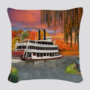 Belle of the Bayou Woven Throw Pillow