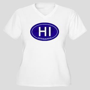 Hatteras Island N Women's Plus Size V-Neck T-Shirt