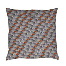 School of Piranhas 2 fish Everyday Pillow