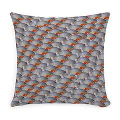 School of Piranhas 2 fish Everyday Pillow