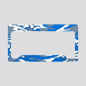 Ice Water Blue License Plate Holder