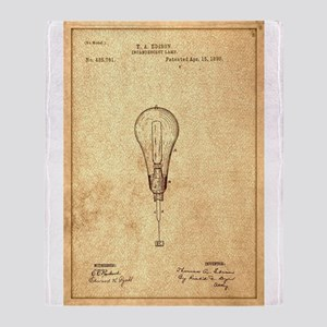 Edison Incandescent Bulb Throw Blanket