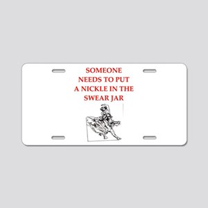 rodeo joke Aluminum License Plate