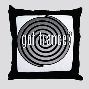 got trance? (spiral) Throw Pillow