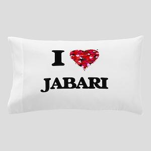 I Love Jabari Pillow Case