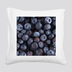 Blueberry Square Canvas Pillow