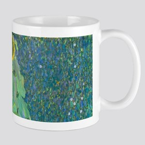 Sunflower by Gustav Klimt Mugs